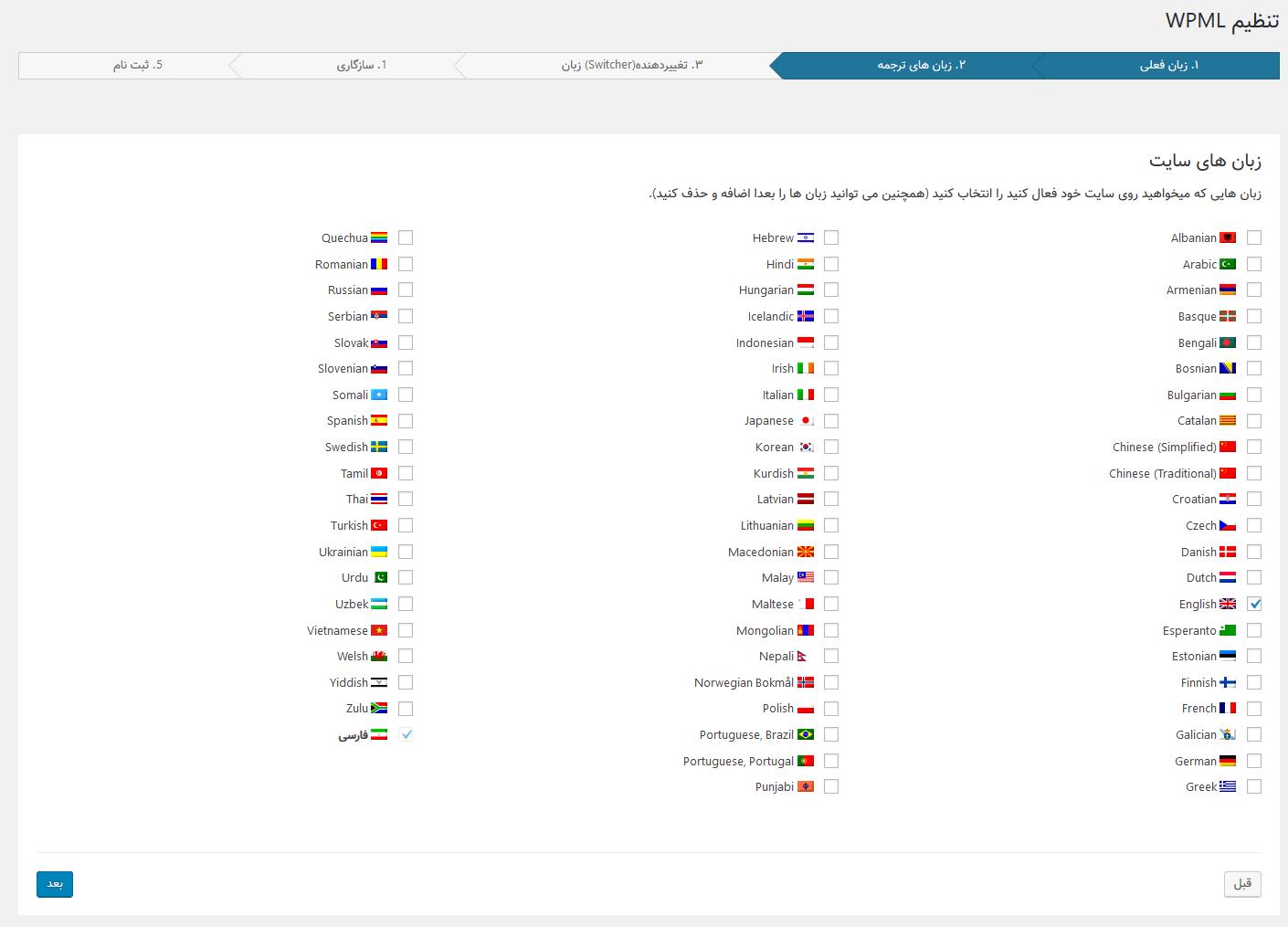 دانلود افزونه دو زبانه کردن سایت برای وردپرس