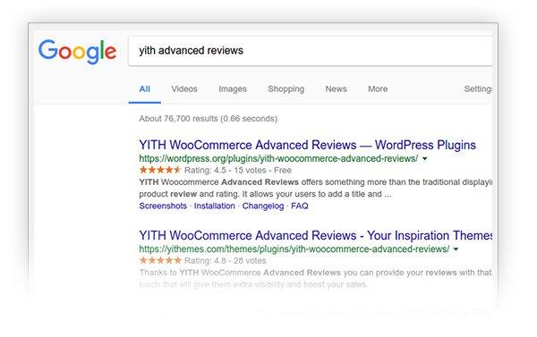 ستاره دار کردن محصولات ووکامرس در گوگل