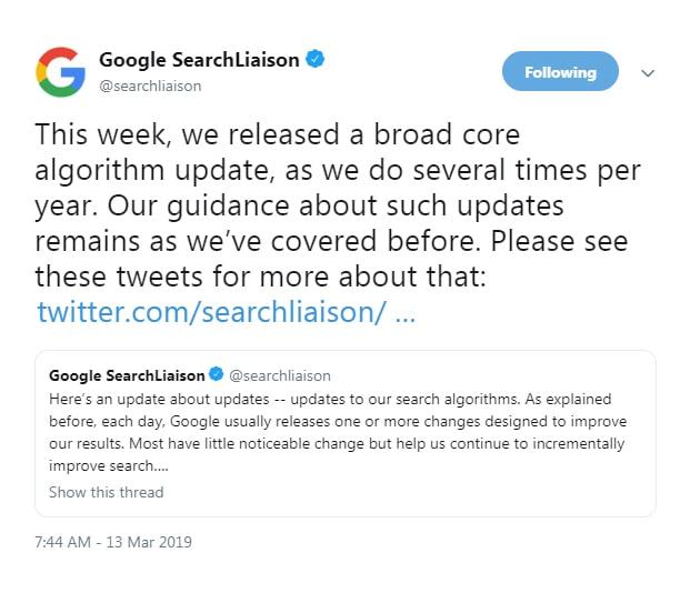الگوریتم فلوریدا 2 گوگل چیست