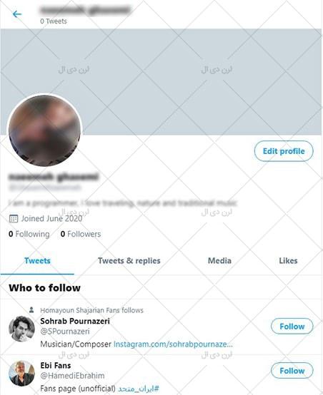 تکمیل اطلاعات Profile در توییتر