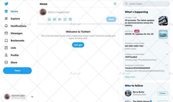 آموزش ساخت اکانت توییر در موبایل