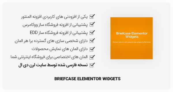 افزونه Briefcase Elementor Widgets برای المنتور