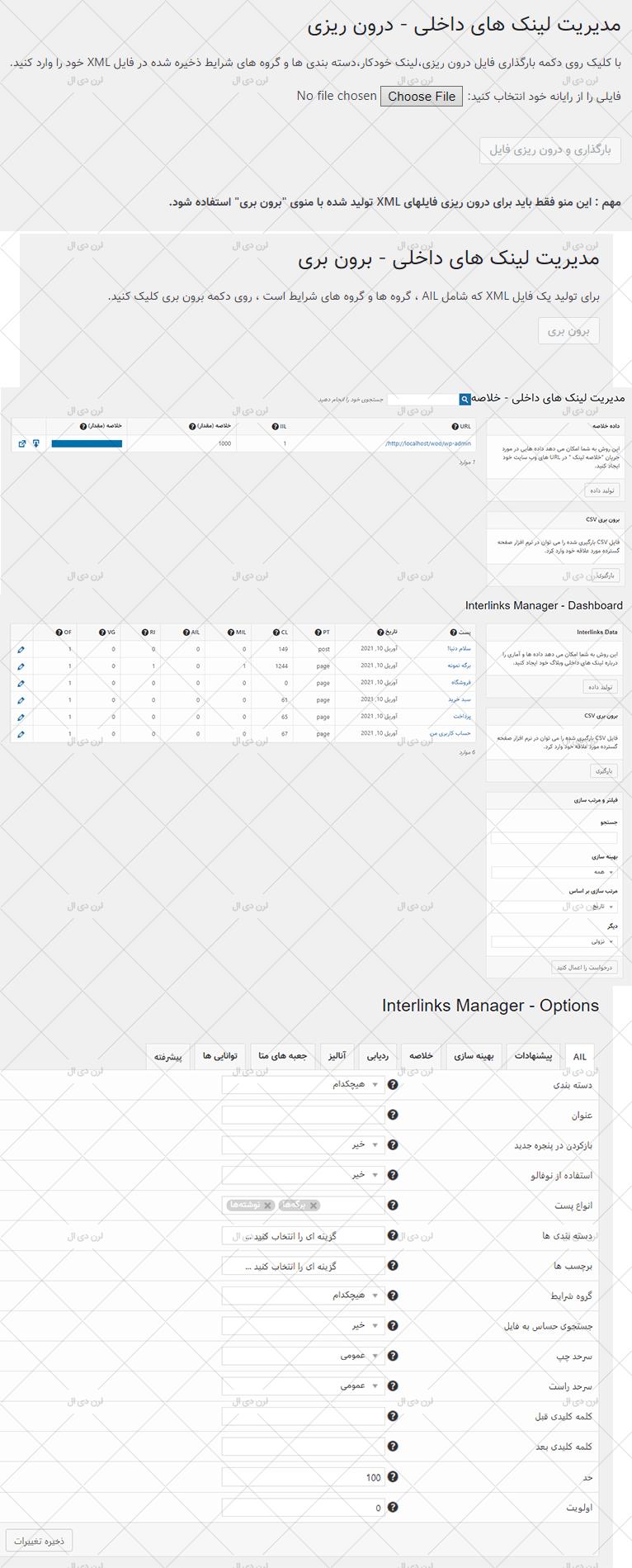 افزونه فارسی Interlinks Manager برای سایت های وردپرسی