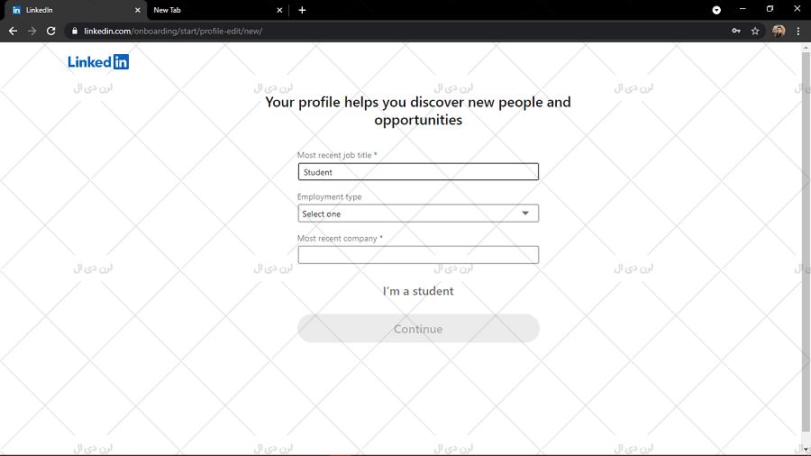 آموزش ثبت نام تصویری در LinkedIn