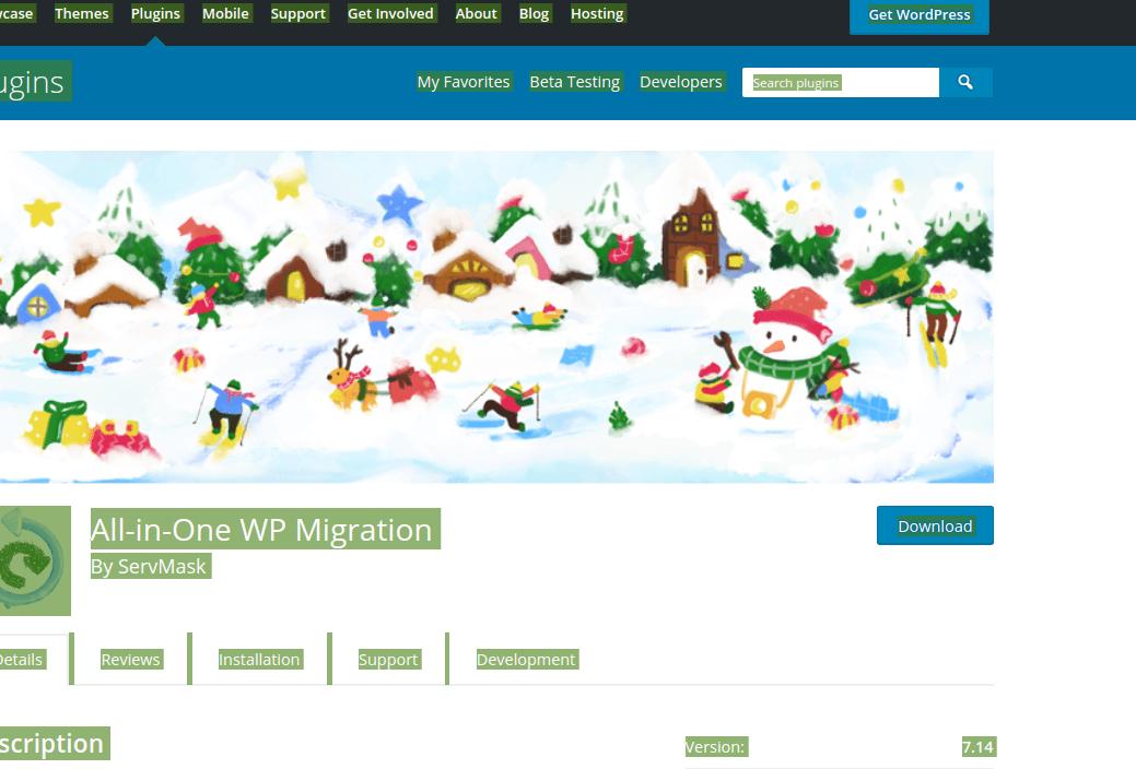 افزونه All-in-one WP Migration برای انتقال وردپرس به صورت رایگان