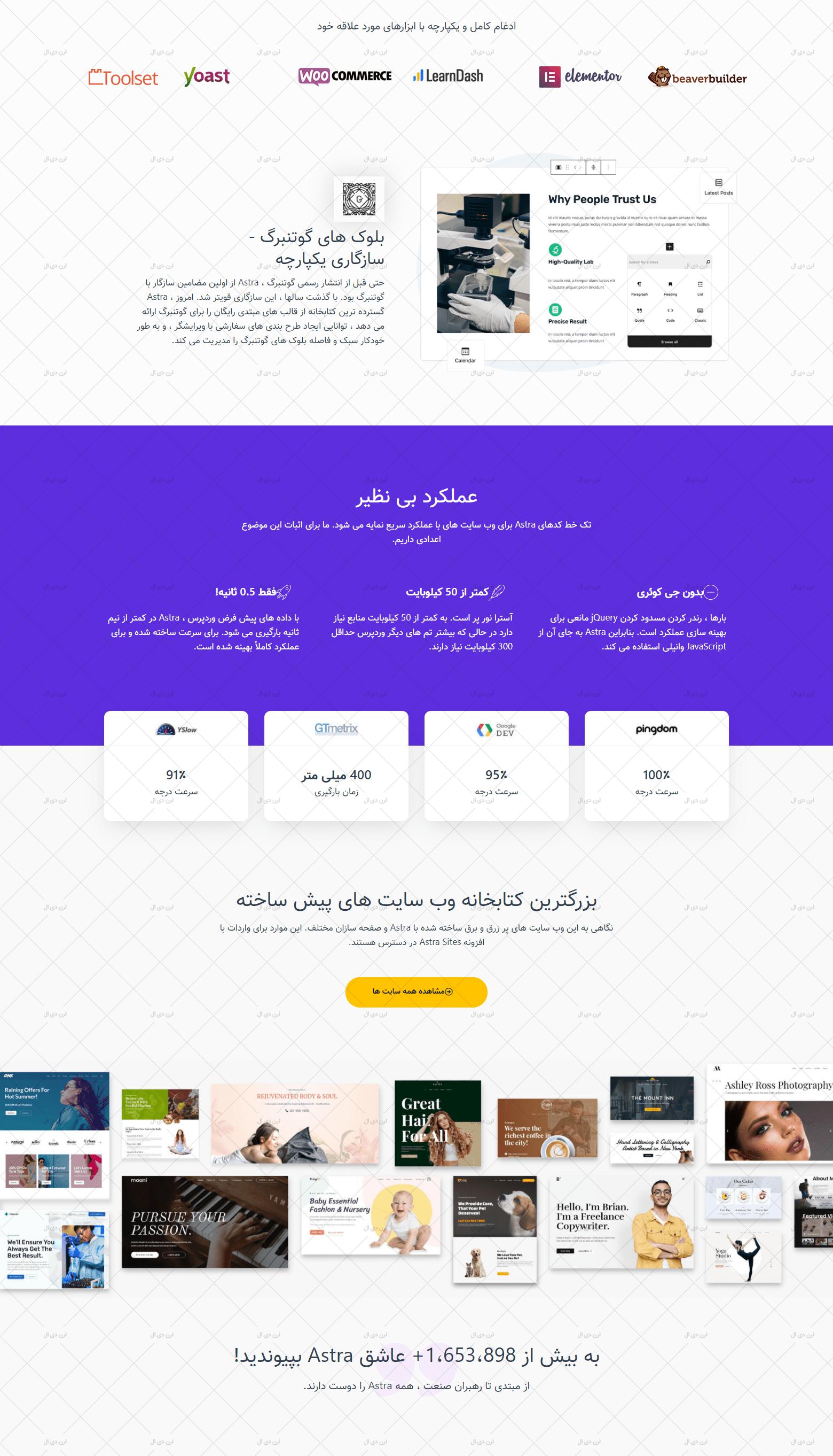 دانلود قالب وردپرس آسترا نسخه فارسی شده