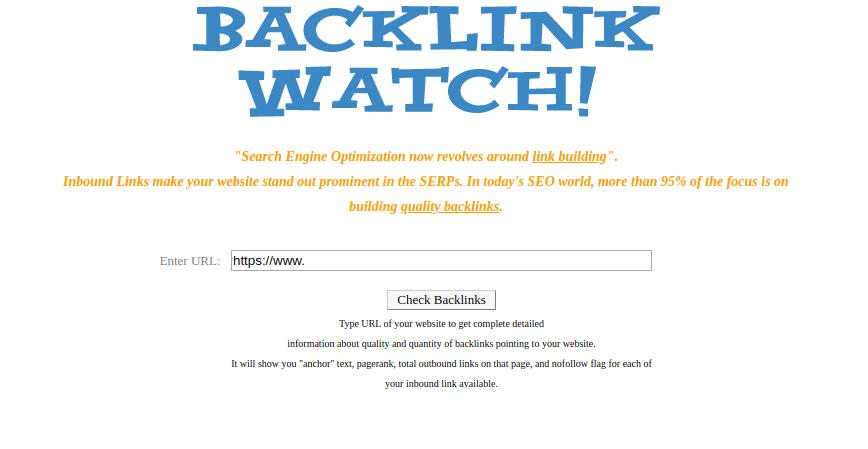 ابزار Backlink Watch برای بررسی بک لینک های سایت