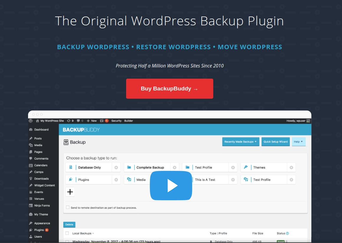 افزونه BackupBuddy برای بک آپ گیری و انتقال وردپرس