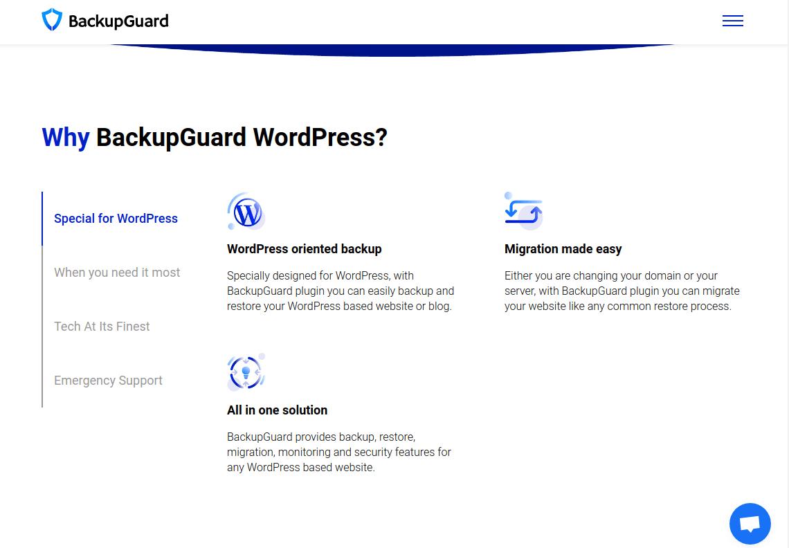 افزونه Backup Guard برای بک آپ گیری و انتقال وردپرس