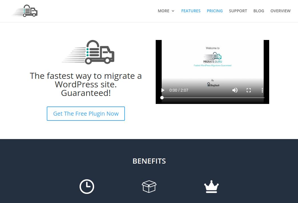 افزونه Migrate Guru برای وردپرس