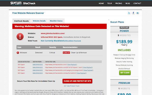 افزونه Sucuri SiteCheck برای بررسی کدهای مخرب در وردپرس