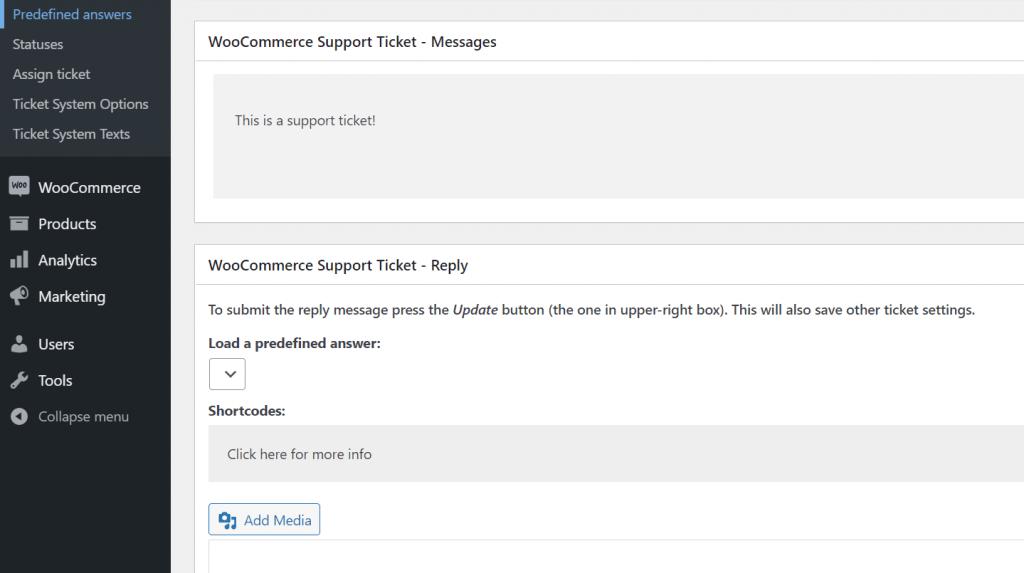 افزونه WooCommerce Support Ticket System برای پشتیبانی محصولات در ووکامرس